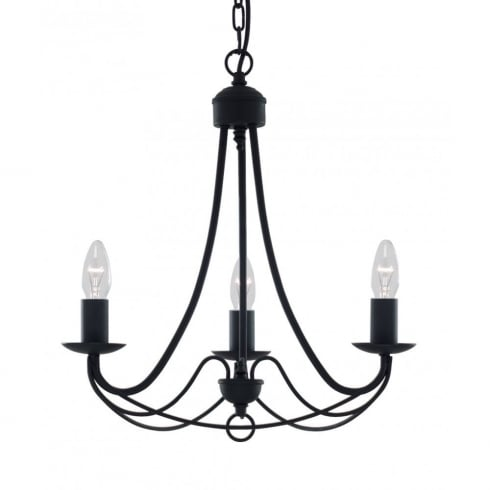 Searchlight Electric Maypole 6343-3BK Black Ceiling Light