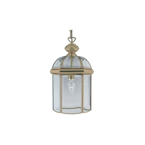 Searchlight 7131AB Antique Brass With Glass Shade Lantern