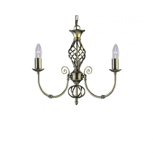 Searchlight Zanzibar 8393-3 Antique Brass Pendant