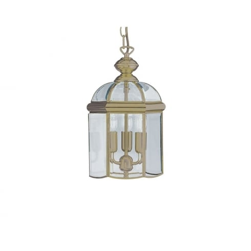Searchlight Electric 7133AB Antique Brass With Glass Shade Lantern