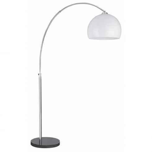 Searchlight Arcs 1037CC Chrome With Thermoplastic White Shade Floor Lamp