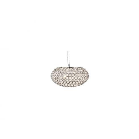 Searchlight Chantilly 7163-3CC Chrome And Crystal Ceiling Light