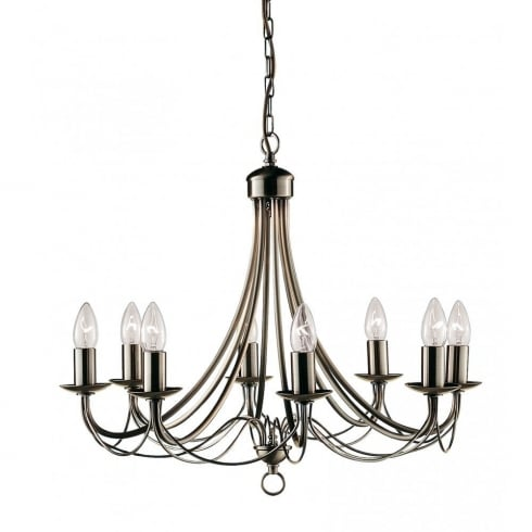 Searchlight Maypole 6348-8AB Antique Brass Ceiling Light