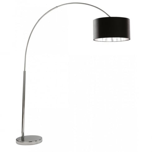 Searchlight Electric Arcs 1013CC Chrome With Fabric Shade Floor Lamp