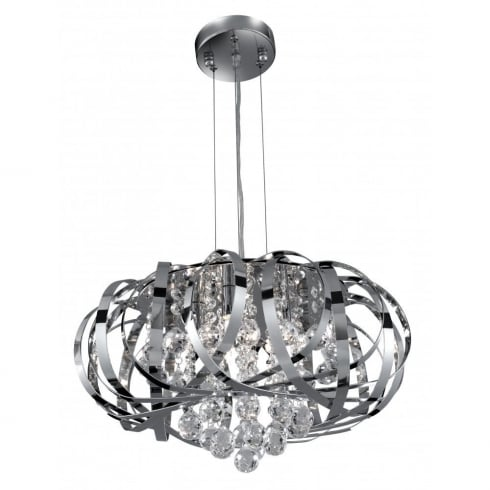 Searchlight Electric Tilly 6975-5CC Chrome With Crystal Detail Pendant