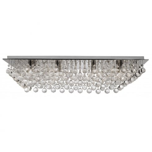 Searchlight Electric Hanna 6728-8CC Chrome With Crystal Detail Flush Ceiling Light