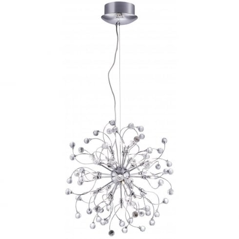 Searchlight Electric Sonja 6629-24CC Chrome With Crystal Detail Pendant