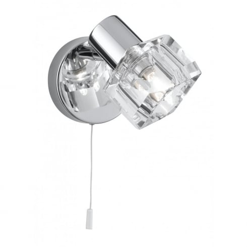 Searchlight Electric Triton 3761CC Chrome With Clear Glass Shade Wall Light