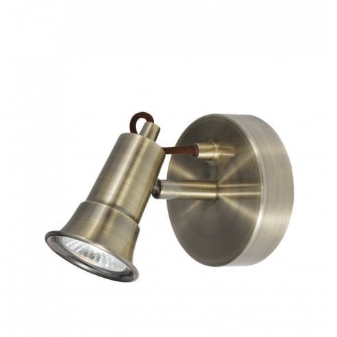 Searchlight Electric Eros 1221AB Antique Brass Spot Wall Light