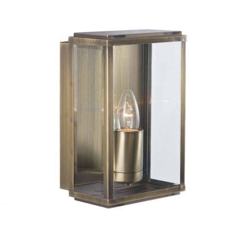 Searchlight Electric 8204AB Antique Brass Outdoor Surface Wall Light