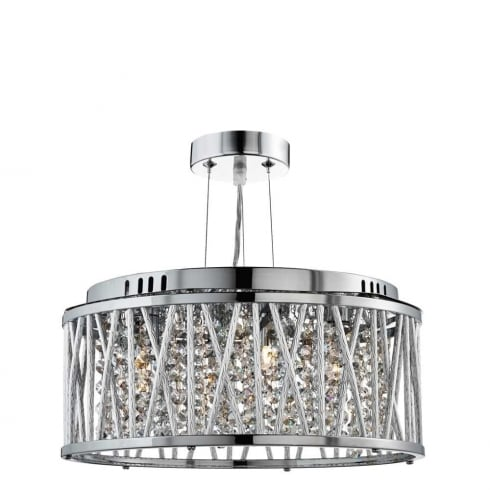 Searchlight Elise 8333-3CC Pendant Ceiling Light