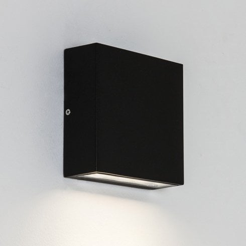 Astro Elis Single LED Outdoor Surface Wall Light Textured Black