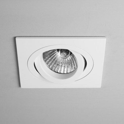 Astro Taro Adjustable Square Recessed Ceiling Downlight White