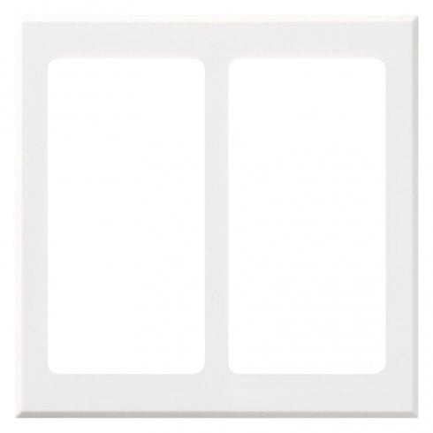 Lutron Pico Wall Faceplate 2 Gang Wireless Dual Opening White