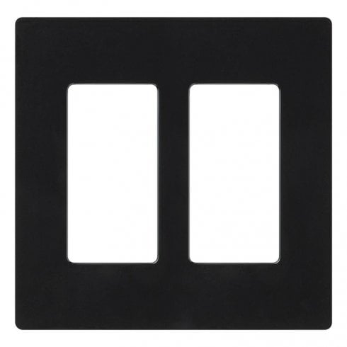Lutron Pico Wall  Faceplate 2 Gang Wireless Dual Opening Black