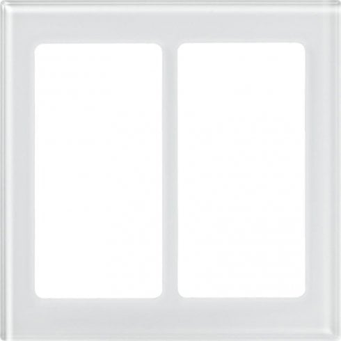 Lutron Pico Wall  Faceplate 2 Gang Wireless Dual Opening Glass