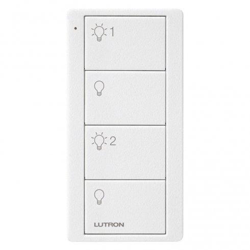 Lutron Pico 4 Button Keypad On / Off / Dim Level 1  / Dim Level 2 White