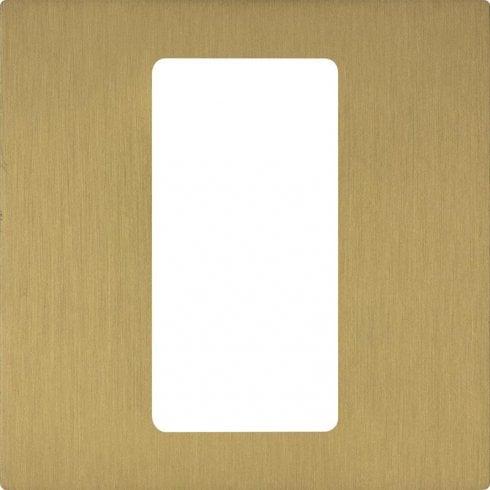 Lutron Pico Wall Faceplate 1 Gang Wireless Single Opening Satin Brass