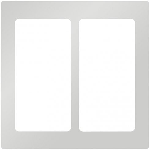 Lutron Pico Wall Faceplate 2 Gang Wireless Dual Opening Brushed Chrome