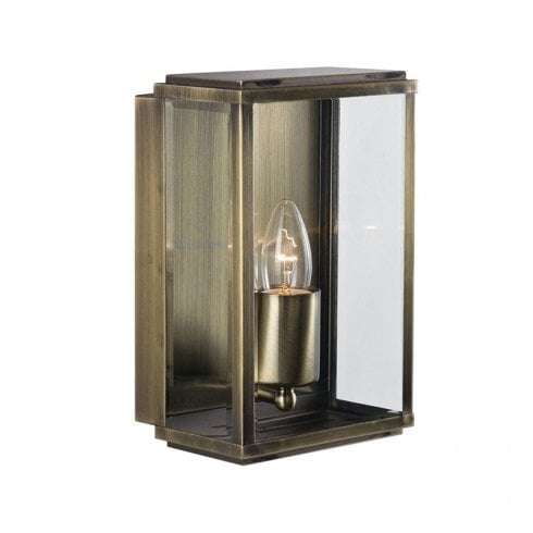Searchlight Outdoor Surface Wall Light 8204AB Antique Brass