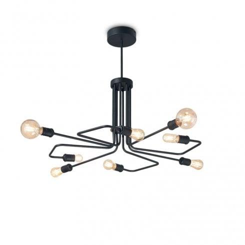 Ideal Lux Triumph SP8 Pendant Ceiling Light Black
