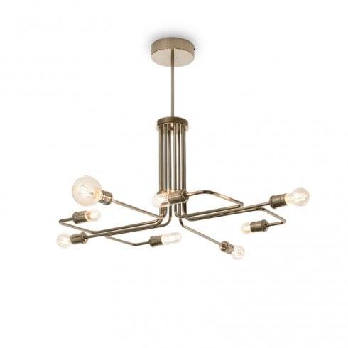 Ideal Lux Triumph SP8 Pendant Ceiling Light Antique Brass