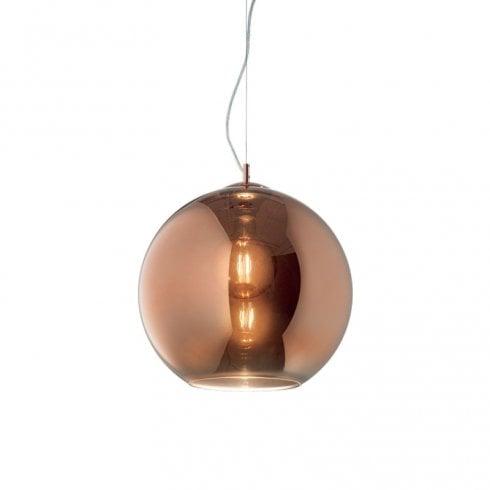 Ideal Lux Nemo SP1 D30 Globe Pendant Copper