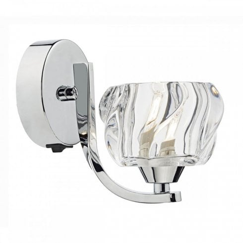 Dar Ivy Single Surface Wall Light Polished Chrome