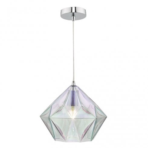 Dar Gaia Pendant Ceiling Light Glass