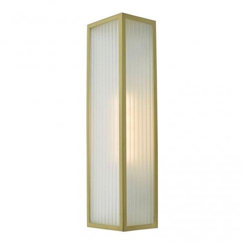 Dar Keegan 1 Light Surface Wall Light Satin Brass