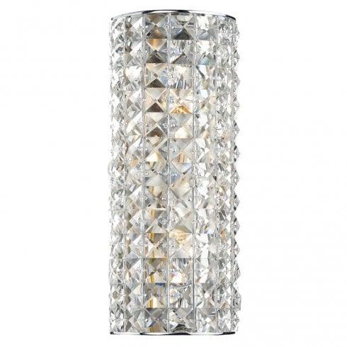 Dar Matrix 2 Light Surface Wall Light Polished Chrome Crystal