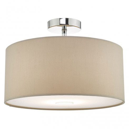 Dar Ronda 40cm Easy fit Pendant Ceiling Light Taupe