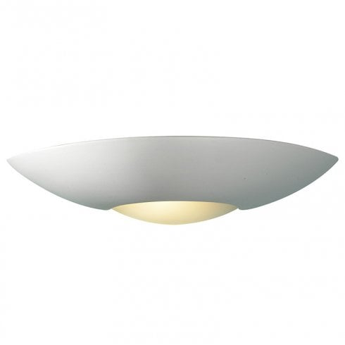 Dar Slice 1 Light Surface Wall Light White Ceramic