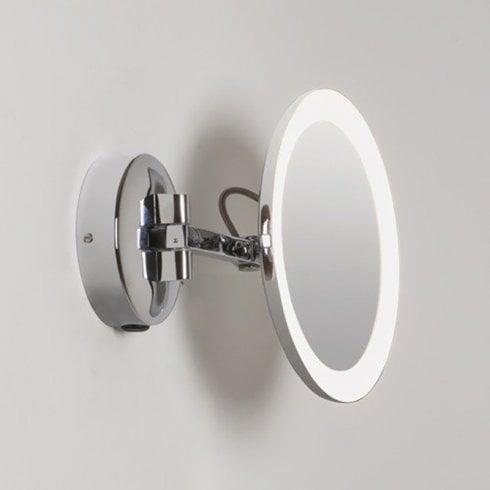 Astro Mascali Round LED Illuminated Magnifying Mirror Polished Chrome
