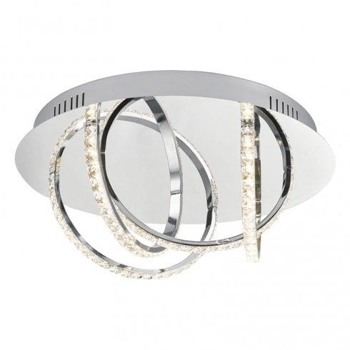 Dar Zancara 4 Light Flush Ceiling Light Crystal