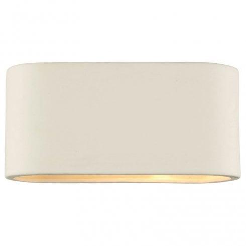 Dar Axton Ceramic Surface Wall Light White Ceramic
