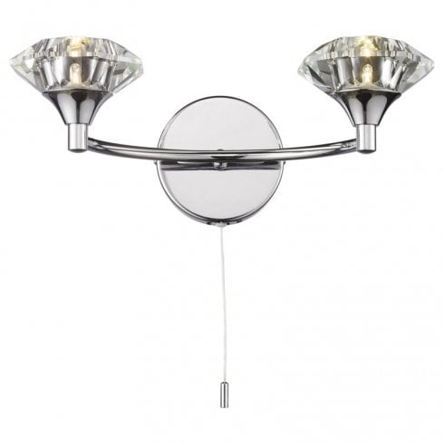 Dar Luther 2 Light Surface Wall Light Polished Chrome
