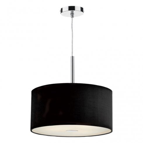 Dar Zaragoza 400mm 3 Light Pendant Ceiling Light Black