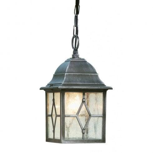 Searchlight Genoa 1641 Outdoor Pendant Ceiling Light Black
