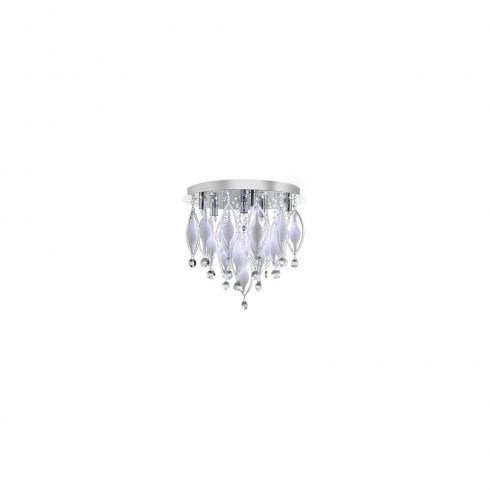 Searchlight Spindle 2456-6CC Flush Ceiling Light Polished Chrome