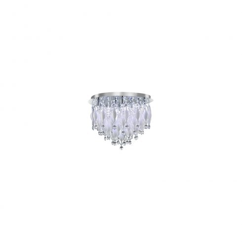 Searchlight Spindle 2459-9CC Flush Ceiling Light Polished Chrome