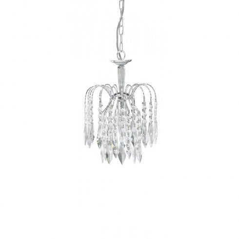 Searchlight Waterfall 4271-1 Pendant Ceiling Light Polished Chrome