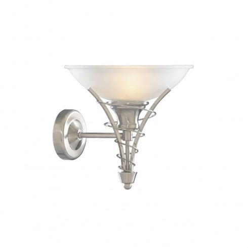 Searchlight Linea 5227SS Surface Wall Light Satin Silver