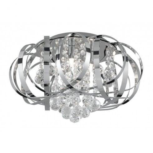 Searchlight Tilly 5973-3CC Flush Ceiling Light Polished Chrome