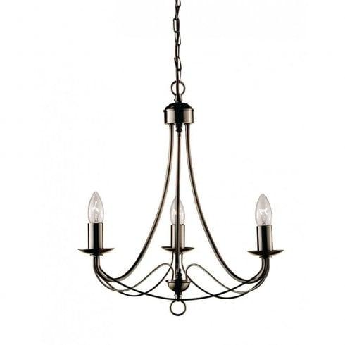 Searchlight Maypole 6343-3AB Pendant Ceiling Light Antique Brass