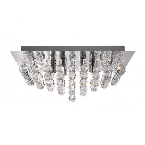 Searchlight Hanna 6408-8CC Semi-Flush Ceiling Light Polished Chrome