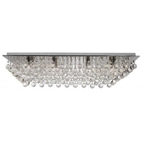 Searchlight Hanna 6728-8CC Flush Ceiling Light Crystal
