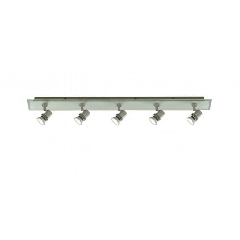 Searchlight Top Hat 7845-5 5 Light Spot Light Satin Silver