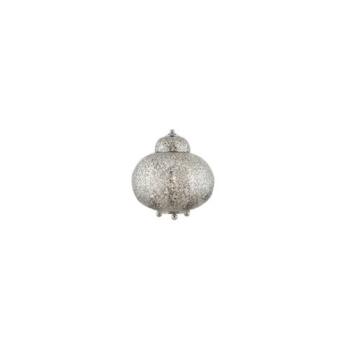 Searchlight Moroccan 8221-1SS Table Lamp Satin Silver