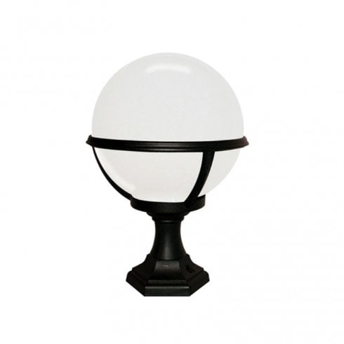 Elstead Glenbeigh Outdoor Pedestal Lantern Black